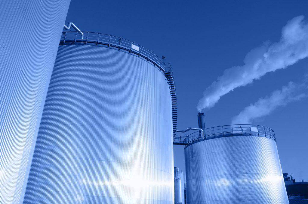 large steel tanks